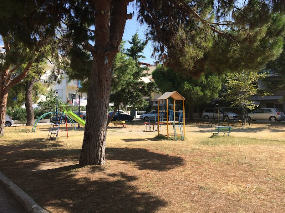 Play ground in front of the house.