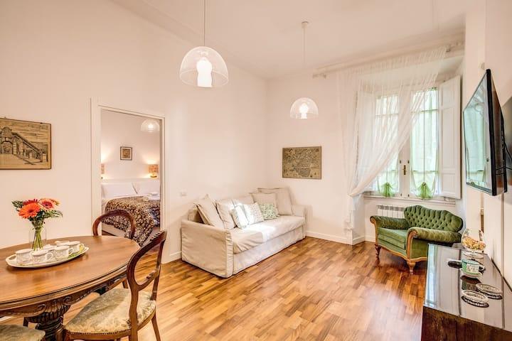 Parioli centro, due camere, soggiorno e cucina