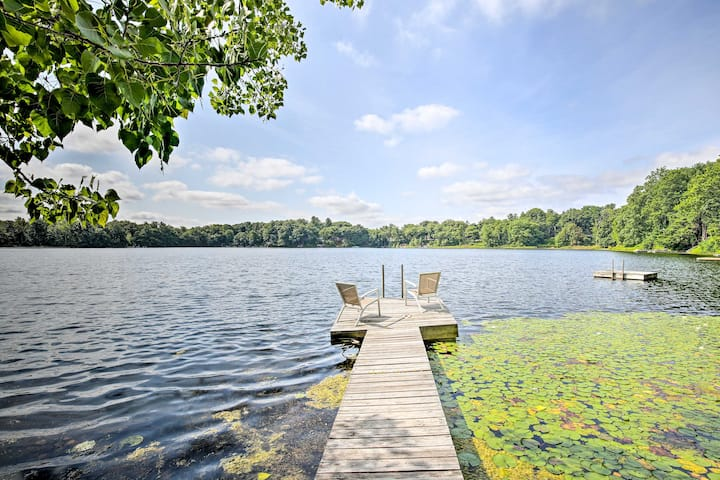 Lakefront Home w/ Kayaks, Peddle Boat & Dock!