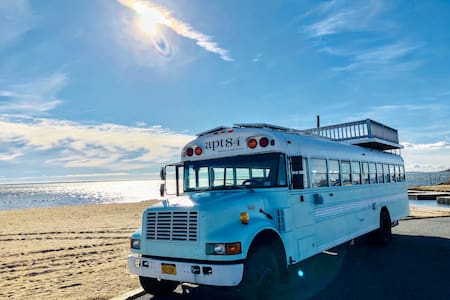 Glamping in a beautiful School Bus Tiny Home