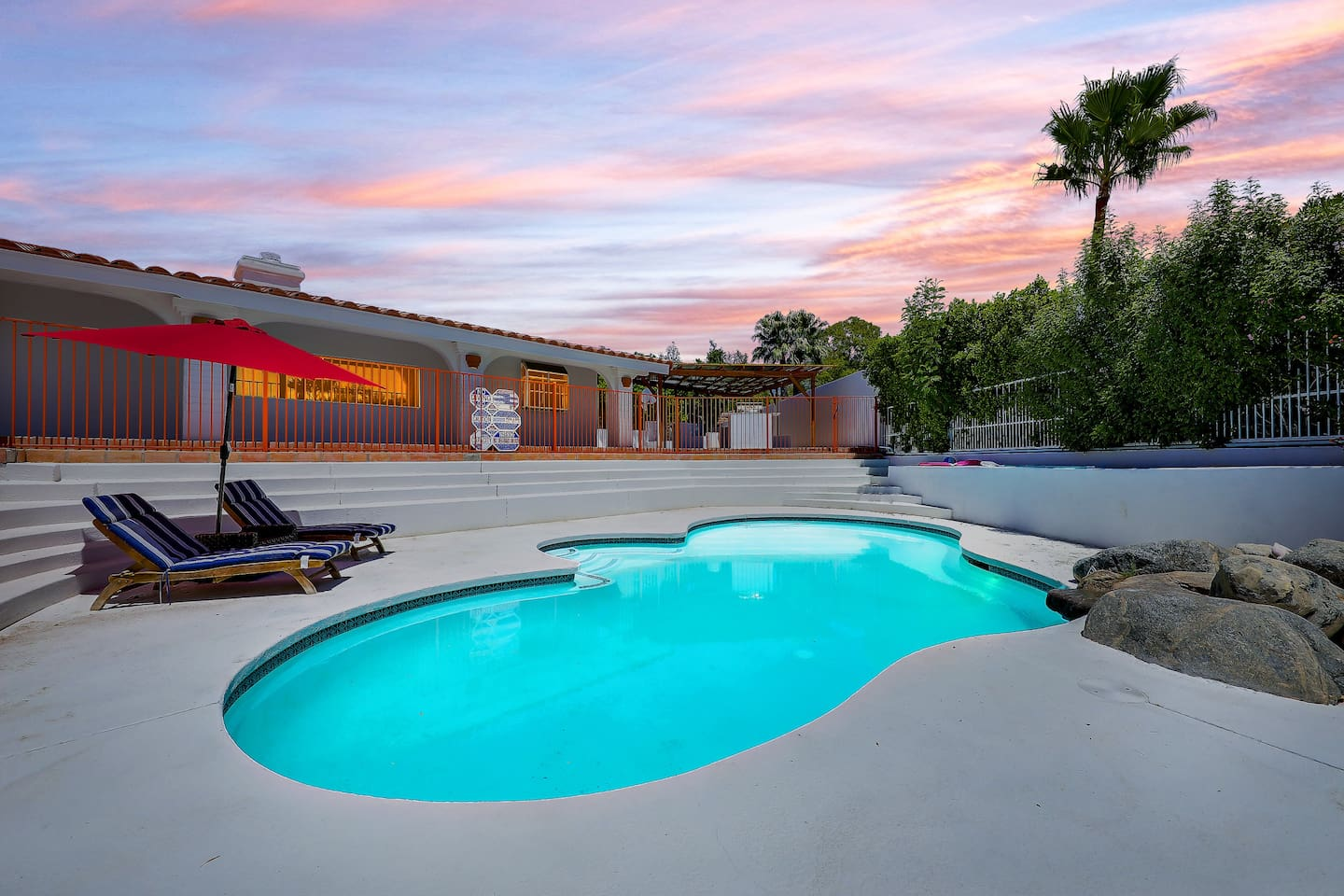 Beautiful Outdoor Area of Pool and Porch