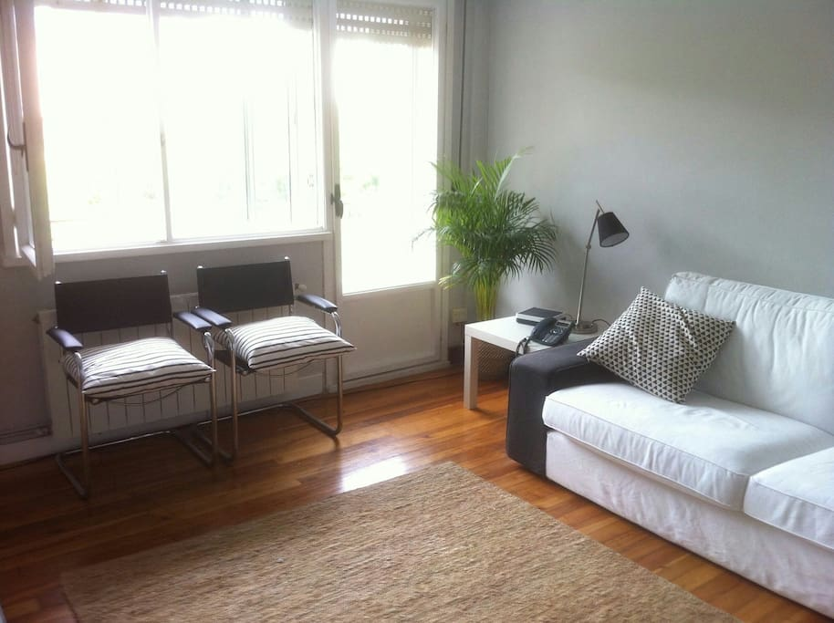 Living room with terraza