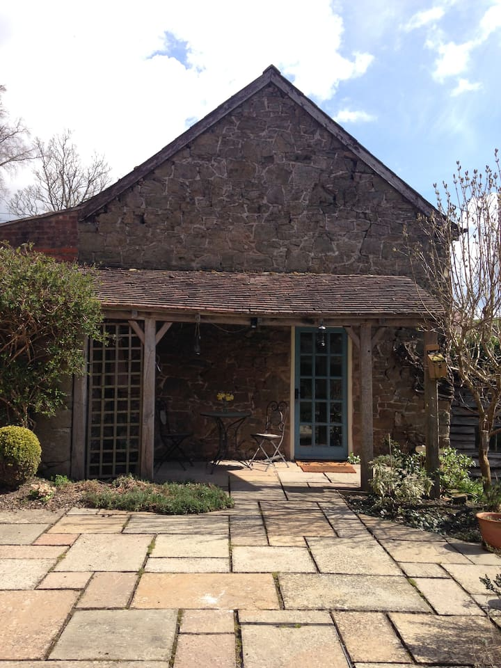 This is the humble outside of Stable Cottage, situated in my garden