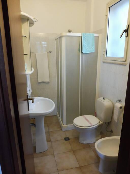 the toilet with shower,  Il bagno con doccia
