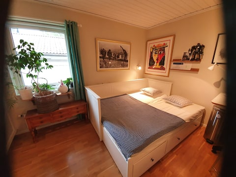 Cosy  room in green area 15 minutes from downtown
