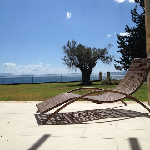 Beachfront fully furnished villa with a garden - Eretria