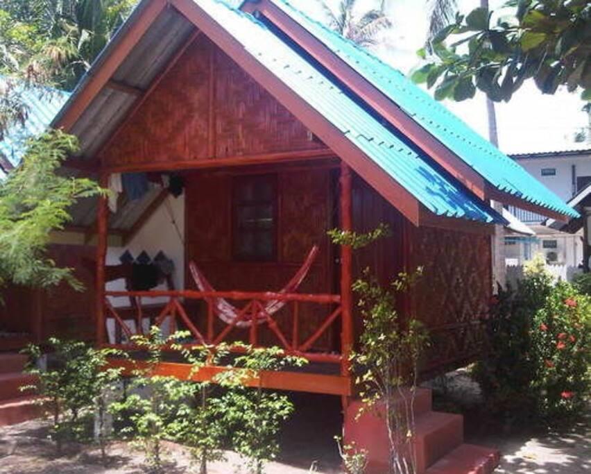 Wood Framed Bungalow, Fan, twin single beds