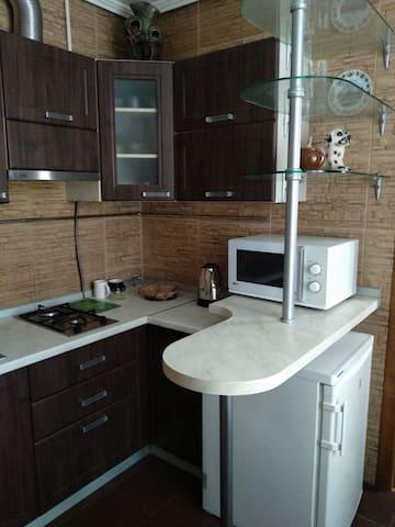 Аппартаметы  для семьи 3х человек или двух гостей.