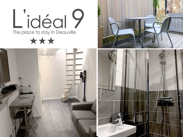 L'IDEAL 9  🔑 Deauville centre (maison + terrasse)