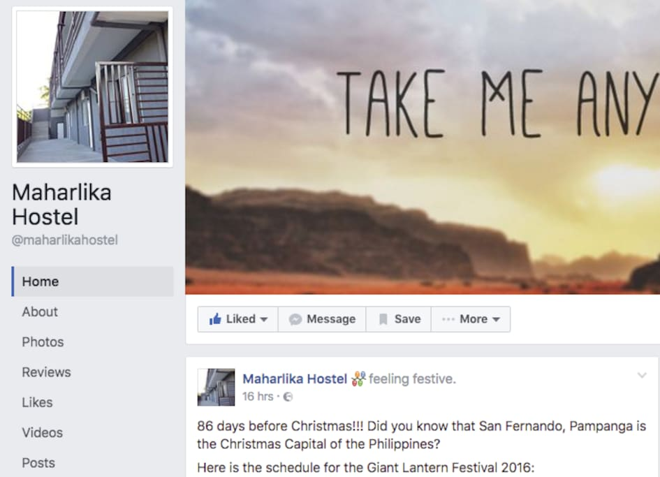 Our Efbee page: Maharlika Hostel