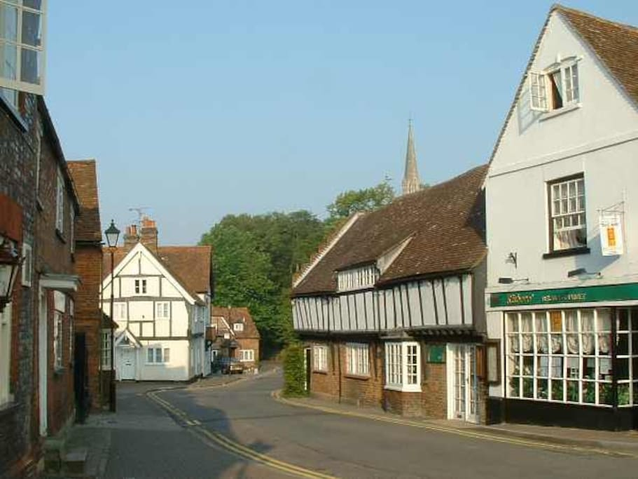 A few minutes walk down to the High Street in Princes Risborough