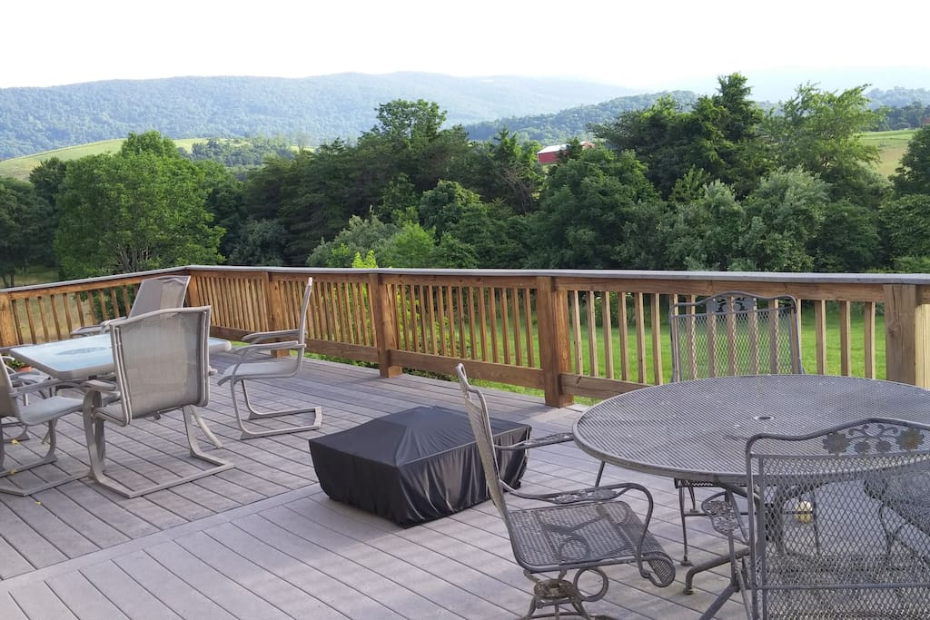 Large deck for relaxation