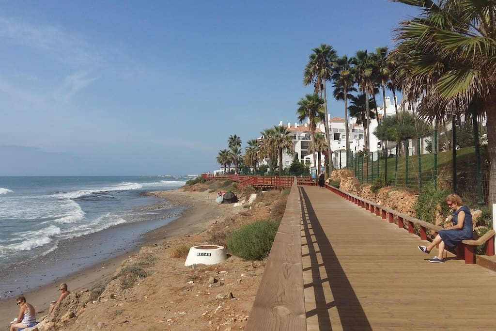 This is part of the new wooden walkway, that runs for 5 km along the coast