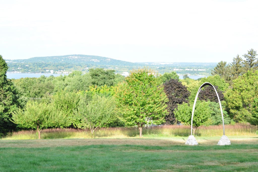 Spectacular views of the Hudson as well as a variety of outdoor sculpture,