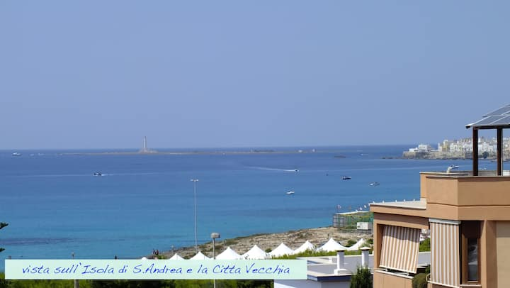 Attico panorama vista mare Gallipoli Lido SanGiov