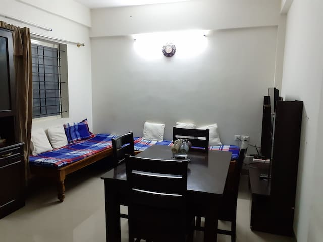 Entire 1bhk for long stays (family/corporates)