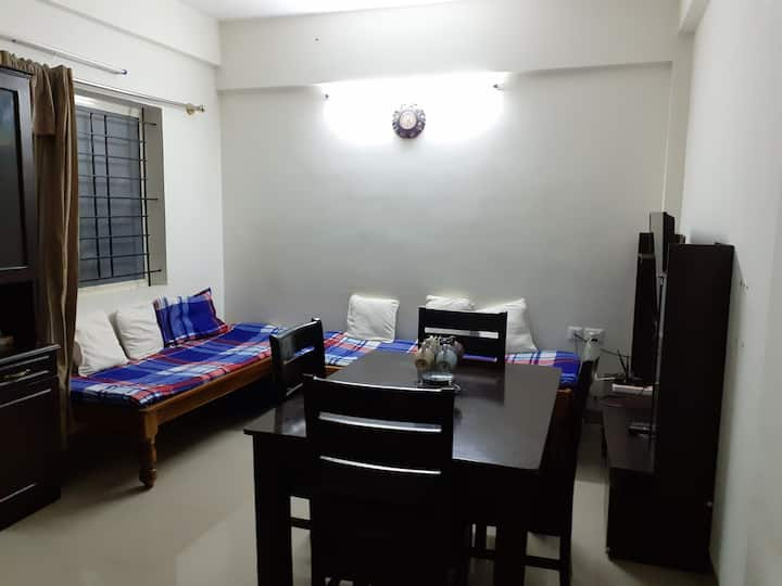 Entire 1bhk 7nights or more- families/corporates