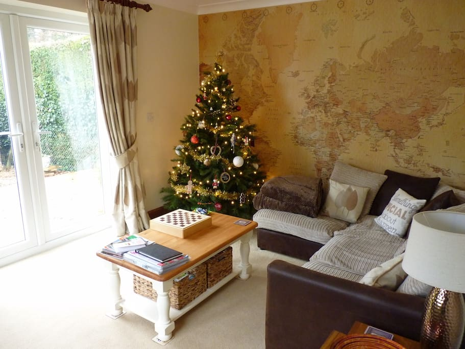 All cosy and set for Christmas in your private garden room!