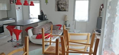 Joli appartement duplex avec petit jardin