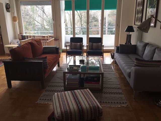 Beautiful flat with terrace along Park Bertrand - Geneva - Apartemen