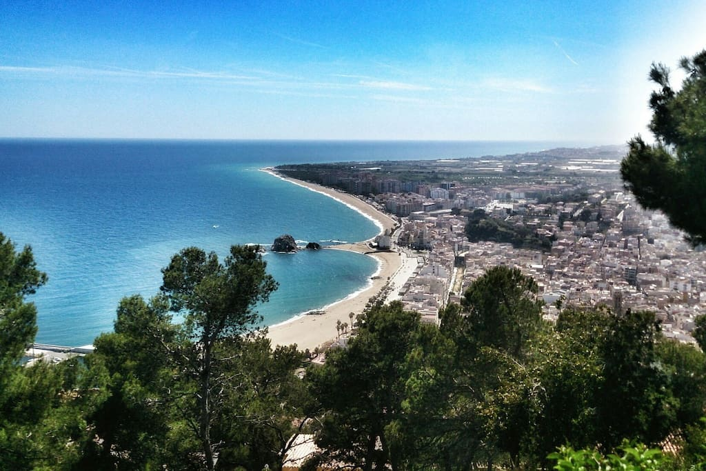 View from St Joan Tower in Blanes