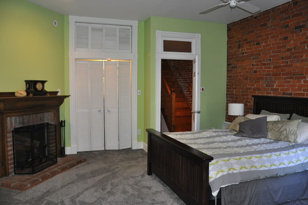 Master bedroom  130 year old fireplace - not for use