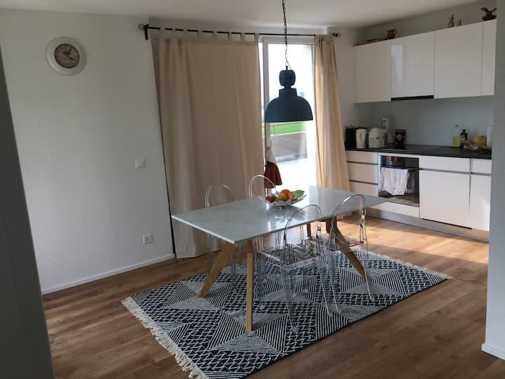 Joli appartement chaleureux et neuf au calme