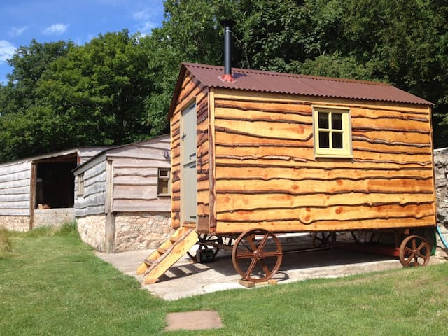 Quirky Shepherds Huts and Barn with glorious views - Abergele - Houten huisje