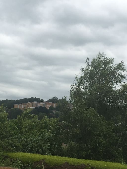 View from house of Exeter university