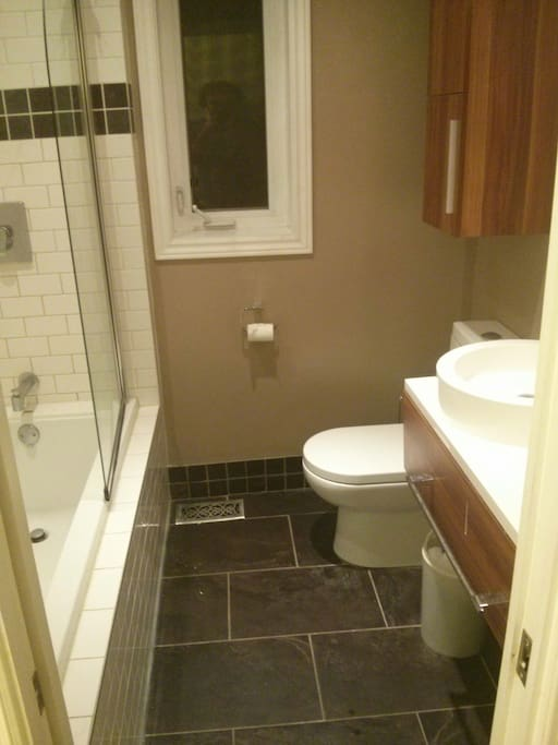 Upstairs bathroom and shower