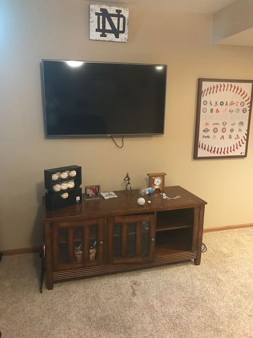 Private living area with TV and cable
