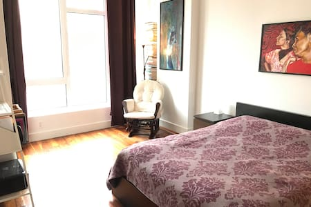 Big room, gym & breakfast, 7 mins to Manhattan - Brooklyn - Bed & Breakfast