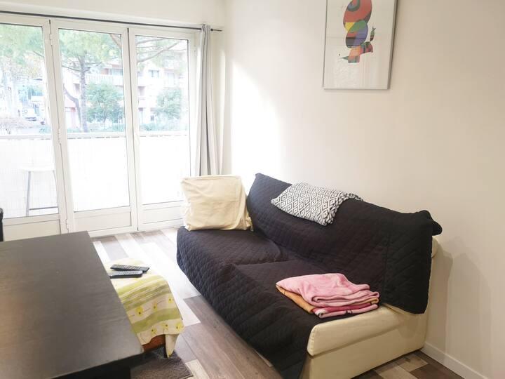 Appartement 2 pièces très chaleureuses
