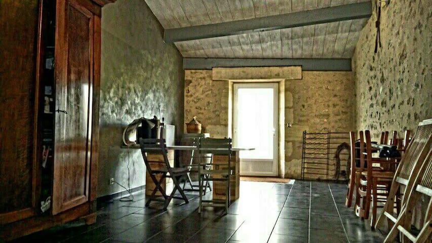 Belle maison en pierre, de 250m2 - Saint-Martin-Lacaussade - Hus