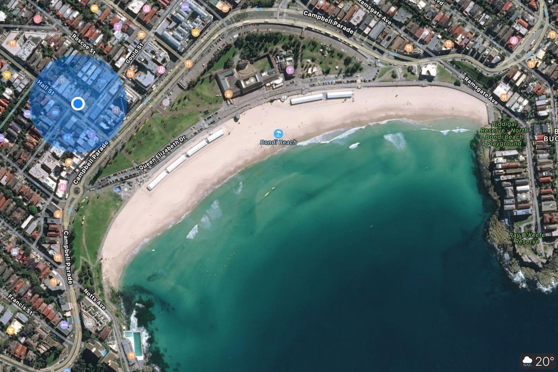 Central Bondi Beach Location