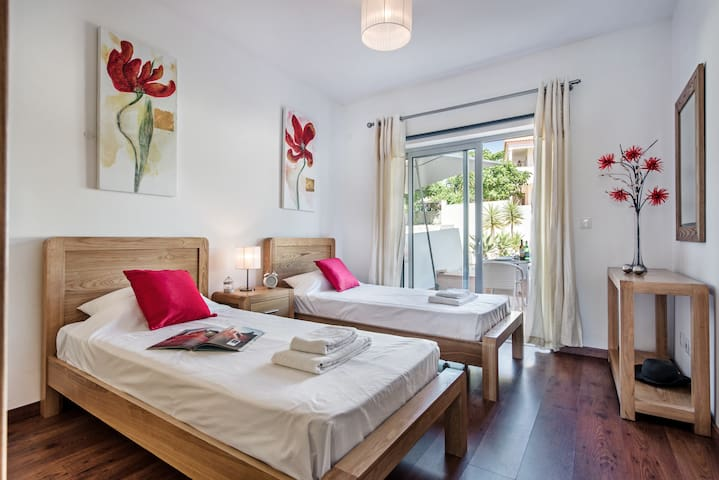 Lovely Large And Comfortable Beds With Windows To The Private Garden