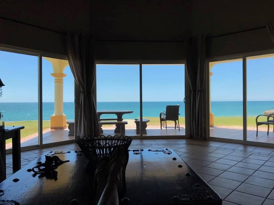 View of Sandy Beach from living space.