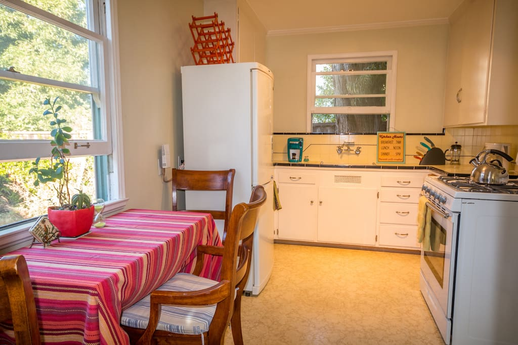 Fully equipped kitchen. Has every possible gadget you may need.