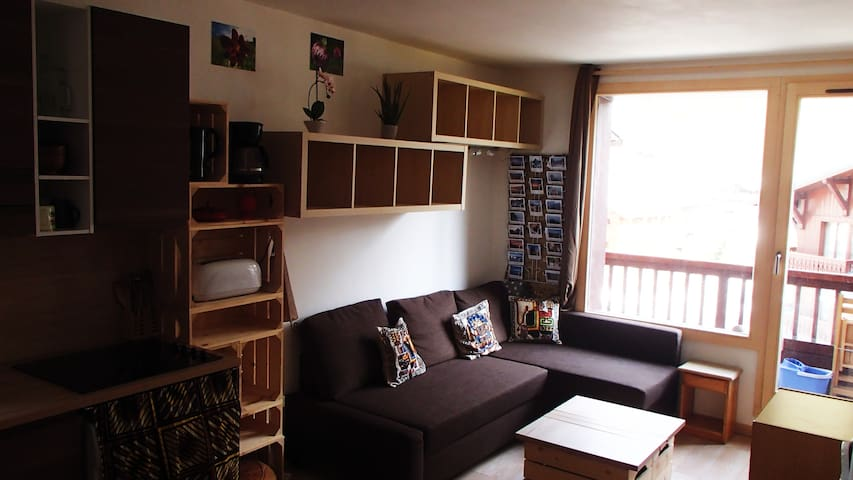 Appartement 4 personnes, Val d'Isère centre.