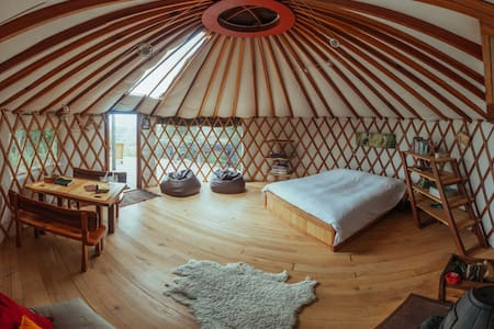 Stunning views from warm cosy yurt