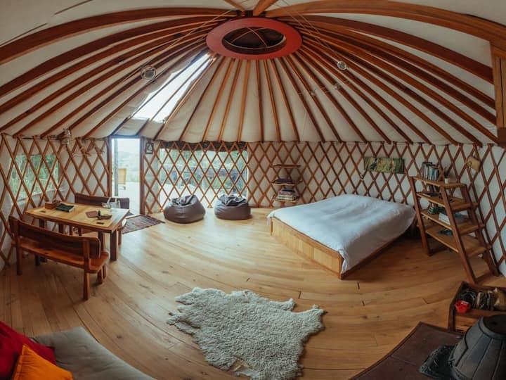 Stunning views from warm cosy yurt