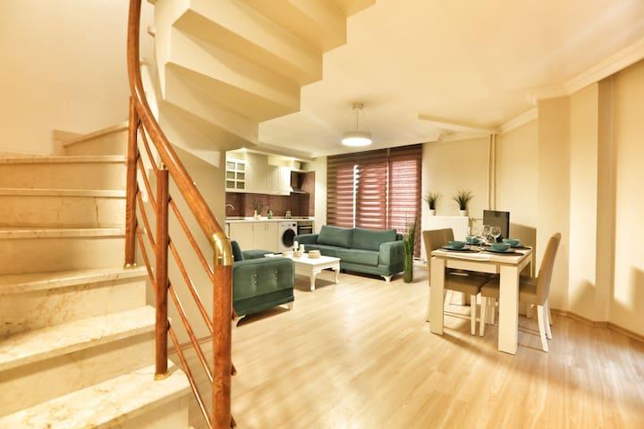Super Deluxe Dublex (3+1) Apartment. - Şişli - Apartment