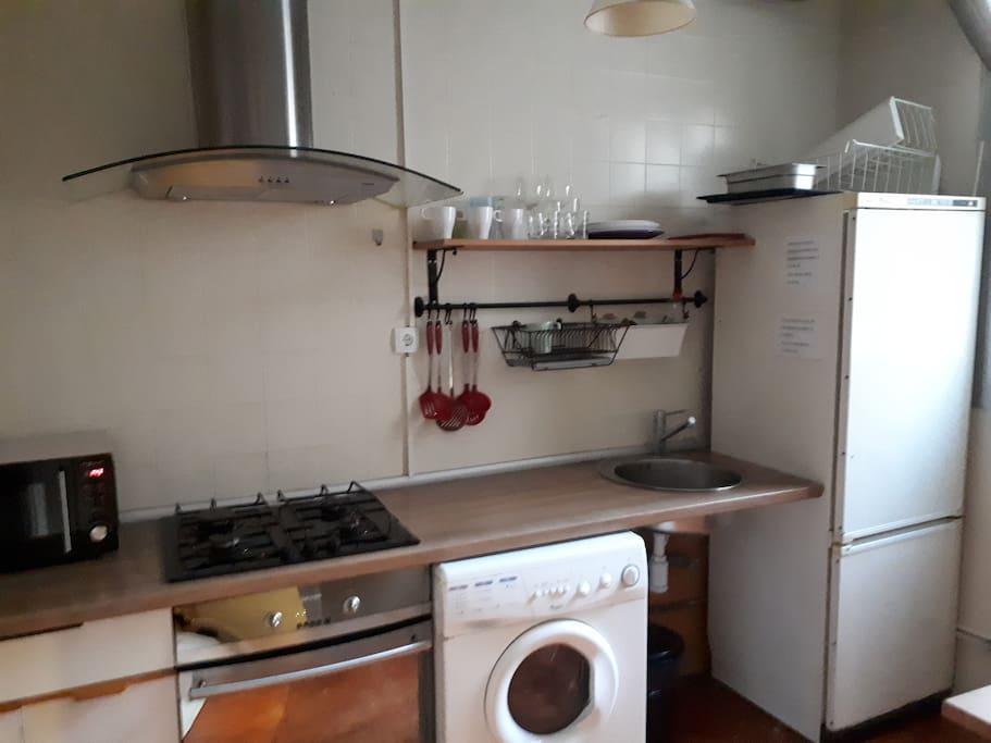 Ésta es nuestra cocina...