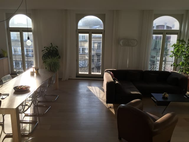 120m2 Sunny Penthouse in the Hip Dansaert District - Bruxelles - Condominium