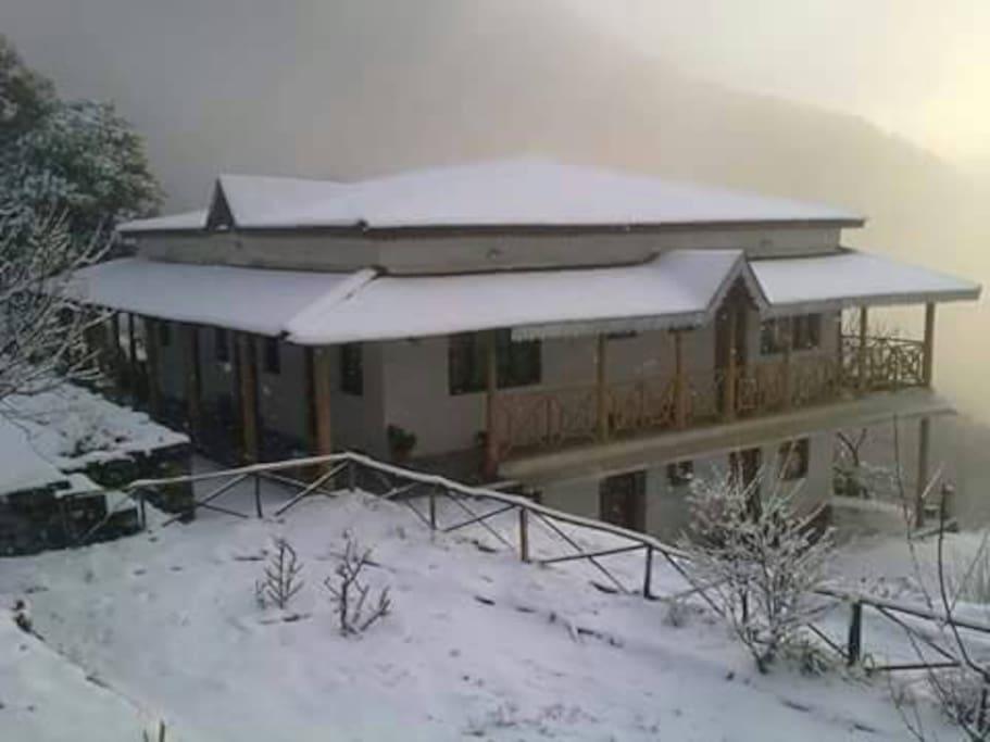 Kafal House when Snowfall