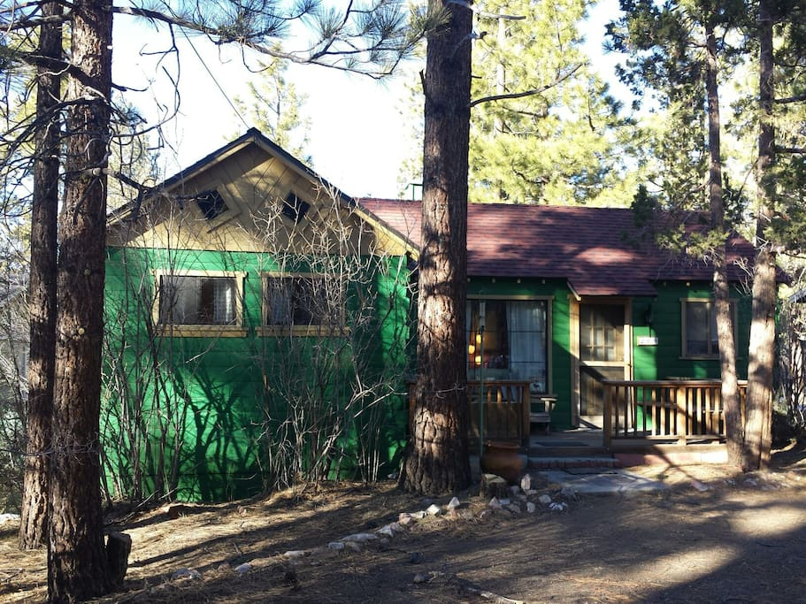 Cute little cabin in the woods perfect for a nice family getaway or romantic couples weekend.