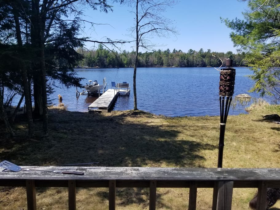 Lake view from the back deck