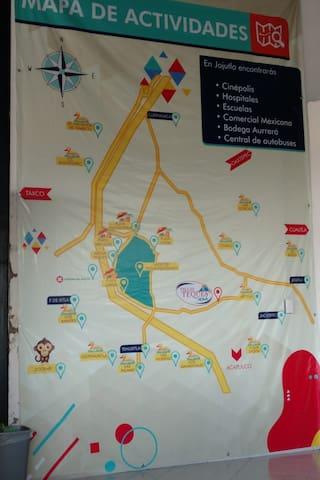 Mapa de actividades cercanas