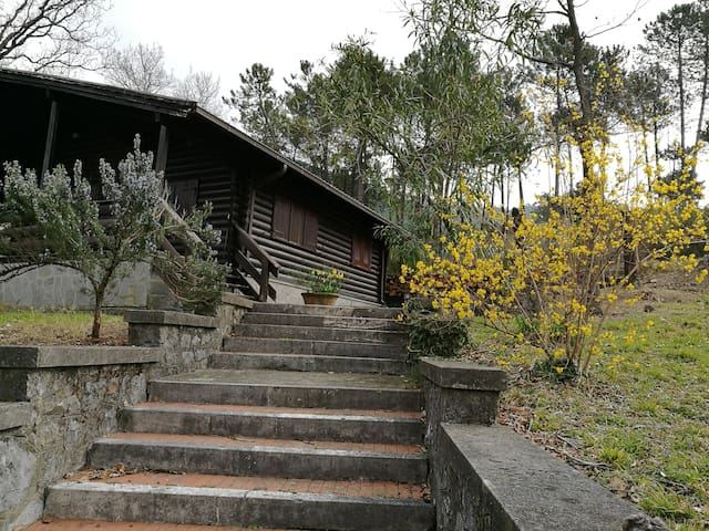 stairs to the chalet