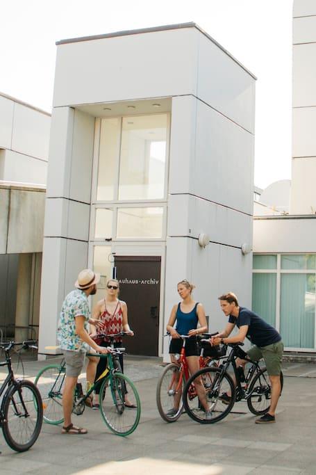 Bike Modern Architecture Icons